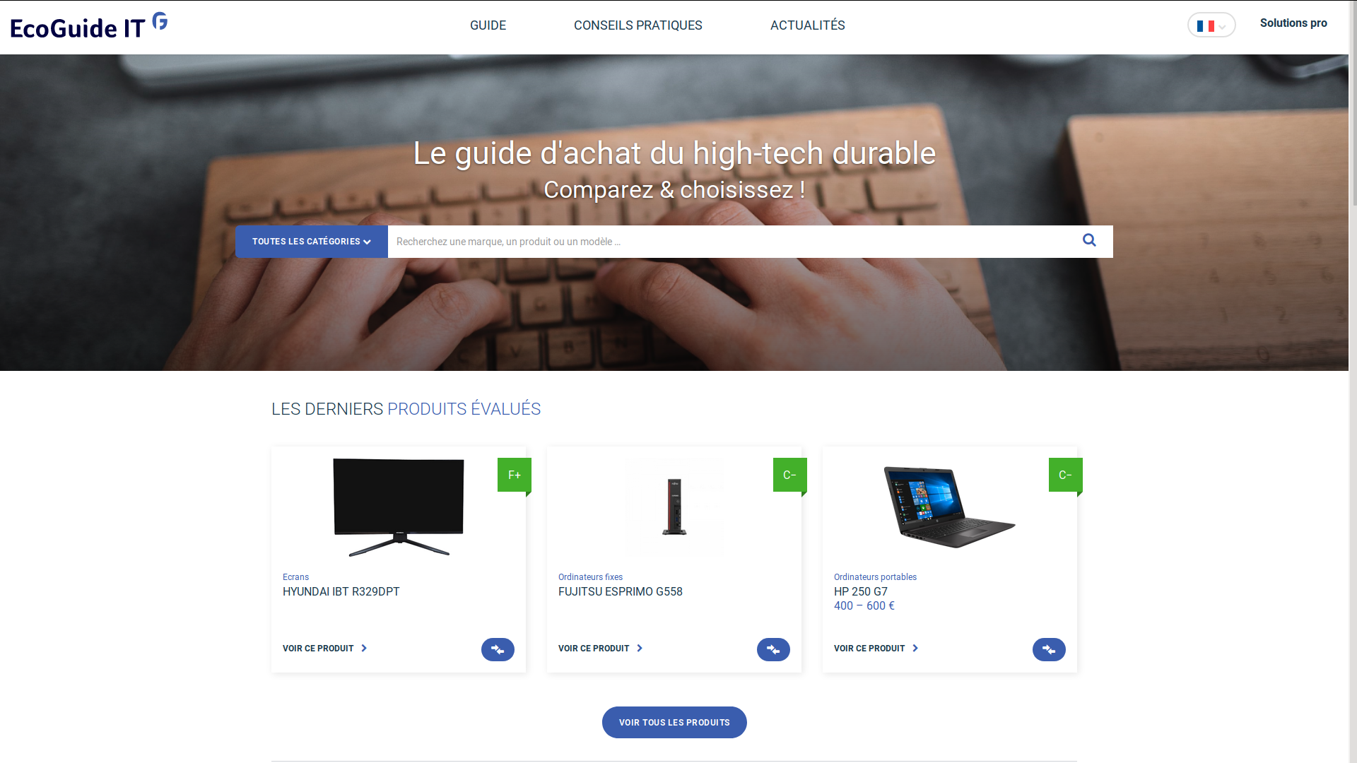 EcoGuideIT, le guide d'achat du high-tech durable