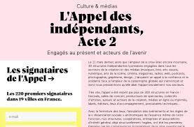 [CULTURE & MÉDIAS] L'appel des indépendants – Acte 2